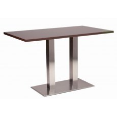 Hafren Contract Danilo Twin Pedestal Table With Solid Wood Top