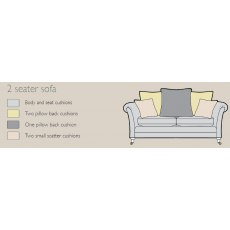 Alstons Adelphi 2 Seater Pillow Back Sofa