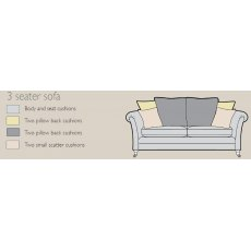 Alstons Adelphi 3 Seater Pillow Back Sofa