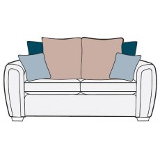 Alstons Memphis 3 Seater Pillow Back Sofa Bed