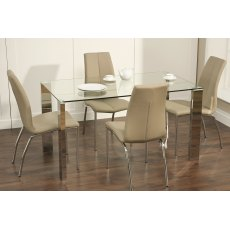 World Furniture Kansas Glass Dining Table