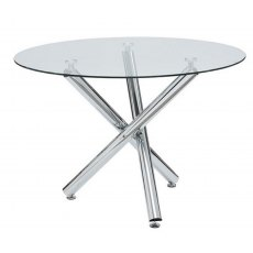 World Furniture Kansas Round Glass Dining Table