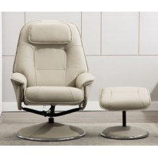 GFA Avant Garde Swivel Recliner And Footstool