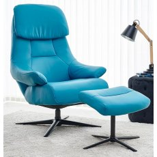 GFA Sydney Swivel Recliner And Footstool