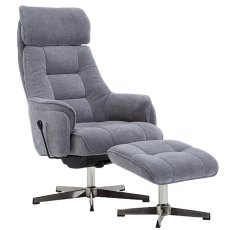 GFA Auckland Swivel Recliner And Footstool
