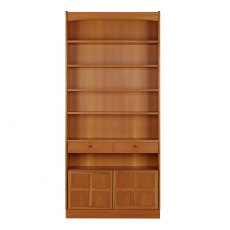 Nathan Classic Teak Tall Bookcase with Doors