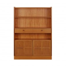 Nathan Classic Teak Medium Bookcase with Drawers