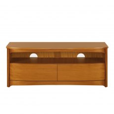 Nathan Classic Teak Shaped TV Unit with Drawers