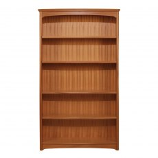 Nathan Classic Teak Tall Double Bookcase