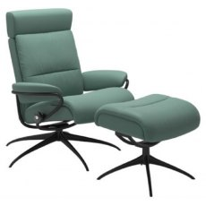 Stressless Tokyo Chair With Adjustable Headrest And Footstool