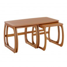 Nathan Classic Teak Burlington Coffee Table Nest