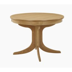 Nathan Shades Oak Circular Pedestal Living & Dining Table
