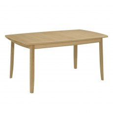 Nathan Shades Oak Extending Boat Shaped Dining Table on Legs