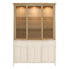 Nathan Shades Oak Shaped Glass Door Display Top Unit