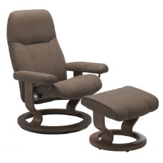 Stressless Promotions Consul Classic Recliner & Footstool