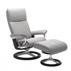 Stressless Aura Signature Base Chair With Footstool
