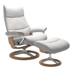 Stressless View Classic Base Chair With Footstool