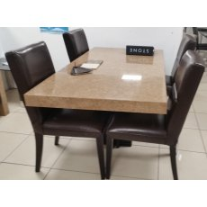 Stone Italia Dining Table With 4 Chairs