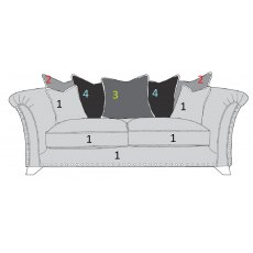 Buoyant Upholstery Vesper Pillow Back 3 Seater Sofa