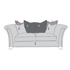Buoyant Upholstery Vesper Pillow Back 2 Seater Sofa