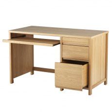 Alphason Desks Hunter Oak Veneered Home Office Desk