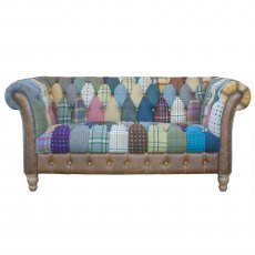 Vintage Sofa Company Harlequin Patchwork 2 Seater Chester Club