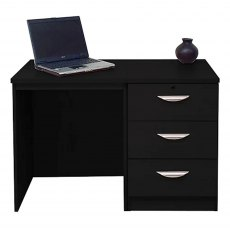 R White Cabinets Set 03 - Desk with CD/DVD Storage Unit