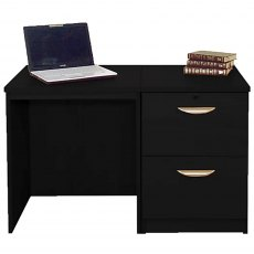 R White Cabinets Set 04 - Desk with 2 Drawer Filing Cabinet