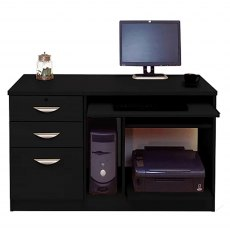 R White Cabinets Set 06 - Computer Work Station with 3 Drawer Unit/Filing Cabinet