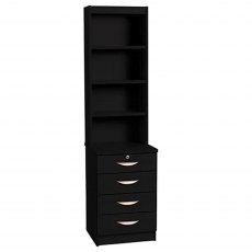 R White Cabinets Four Drawer Unit with OSC Hutch