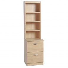 R White Cabinets Two Draw Filing Cabinet with OSC Hutch