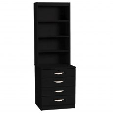 R White Cabinets Four Drawer Chest With OSD Hutch