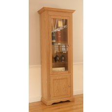 "Andrena Pelham 27"" Narrow Glazed Bookcase"