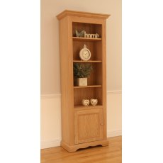 "Andrena Pelham 27"" Narrow Open Bookcase with Bottom Door"