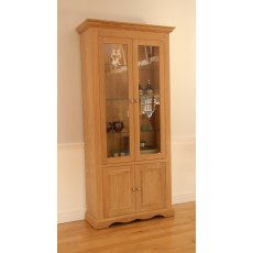 "Andrena Pelham 36"" Wide Glazed Bookcase"