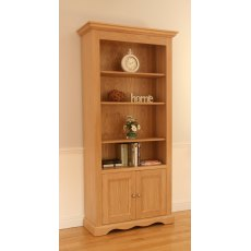 "Andrena Pelham 36"" Wide Open Bookcase with Bottom Doors"