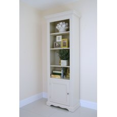 Andrena Barley 27' Narrow Open Bookcase with Bottom Door