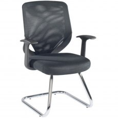 Alphason Office Chairs Atlanta Black Mesh Back Visitors Chair