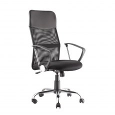 Alphason Office Chairs Orlando Black Mesh Chair
