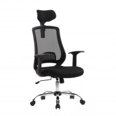 Alphason Office Chairs Florida Black Mesh Chair