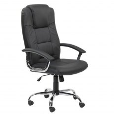 Alphason Office Chairs Houston Black High Back Leather Executive Chair