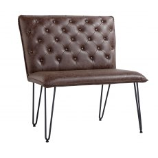 Hafren Collection Studded Back Bench 90cm