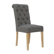 Hafren Collection Button Back Chair with Scroll Top