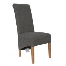 Hafren Collection Button Back Scroll Back Fabric Chair