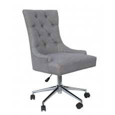 Hafren Collection Winged Button Back Office Chair Chrome Legs