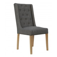 Hafren Collection Button Back & Studded Dining Chair