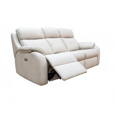 G Plan Kingsbury 3 Seater Double Electric Recliner Sofa with Headrest & Lumber
