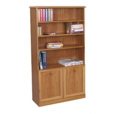 Sutcliffe Trafalgar Bookcase with 2 Doors & 3 Shelves