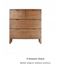 Baker Furniture Bermuda 4 Drawer Chest