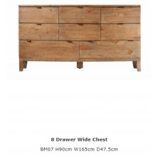 Baker Furniture Bermuda 8 Drawer Wide Chest